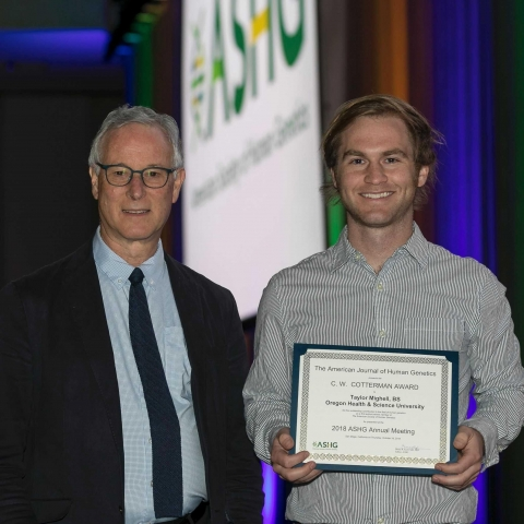 Taylor Mighell Presented with C.W. Cotterman Award